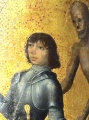 Izredno lepa poslikava viteza, ki raje izbere smrt kot pa da izgubi naklonjenost gospodične, za katero se bori na turnirju.