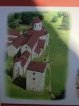 Slikovni prikaz, kako naj bi včasih izgledala opatija