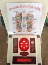 """Na železniški postaji si lahko privoščite """"refleksoterapijo""""... pravzaprav je to bolj vibracijska masaža stopal. Lahko pa se naučite turških anatomskih izrazov."""